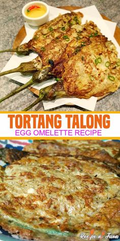 If you're looking for a delicious but affordable dish, this Tortang Talong Recipe (Egg Omelette) is something you should try and it will leave you more than satisfied. The Tortang Talong Recipe has ve Easy Filipino Recipes, Asian Recipes, Filipino Food, Filipino Torta, Filipino Desserts, Vegetarian Recipes, Cooking Recipes, Healthy Recipes, Cooking Ribs