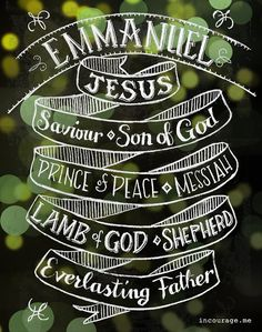 Names of Jesus - Emmanuel