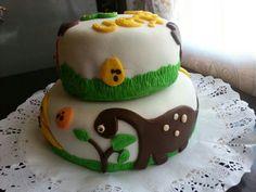 Torta Dinosaurios.  Dinosaur cake. 35p.