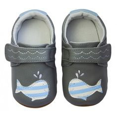 Rose et Chocolat - Happy Whale Grey Walking Barefoot, Partner, Whale, Baby Shoes, Rose, Grey, Happy, Kids, Baby Boys