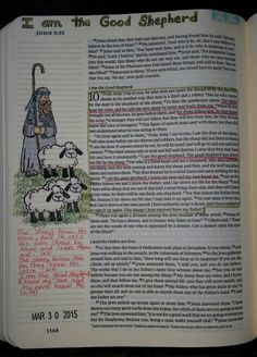 The Good Shepherd by Paula Kay Bourland. Stamps by Judith.