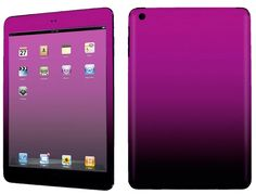 Amazon.com: Hot Pink and Black {Gradient Two Tone} Front and Back Full Body Adhesive Vinyl Decal Sticker for iPad Mini 1st Generation Models A1432, A1454 and A1455 (No Air Bubbles - Removable Residue Free Skin}: Computers & Accessories