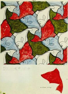 FISH (1938): M. C. Escher  - my first real crush on art, age 9