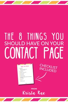 Many bloggers overlook the importance of their contact page. If you spend time on your Contact page you may see some good returns!
