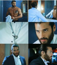 Could these photos be for episode on Turkish Men, Turkish Actors, Frases Coaching, Pretty People, Beautiful People, Beard Lover, How To Look Handsome, Cinema, Beard Styles
