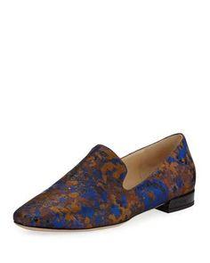 5de1db5616a1 Jimmy Choo Jaida Flat Brocade Loafer Jimmy Choo Shoes