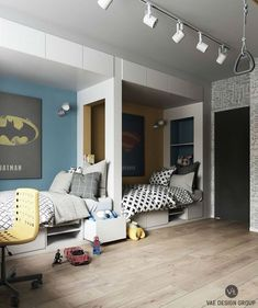 Stylish And Modern Apartment Decor Ideas You Will Totally Love – Decorating Ideas - Home Decor Ideas and Tips One Bedroom, Kids Bedroom, Bedroom Ideas, Magical Bedroom, Lego Bedroom, Childrens Bedroom, Bedroom Themes, Bedroom Colors, Bedroom Designs