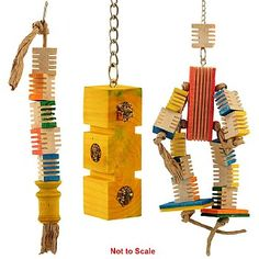 Encourage your Parrot's natural foraging instincts with this Zoo Max Groovy Toy Kit, that has three fun toys inside.