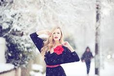 Winter fashion photography