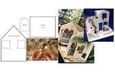 Tante idee per Creare Case per Le Bambole In maniera Semplice Ed Economica + Cartamodelli Diy Dollhouse, Dollhouse Furniture, Creative Kids Rooms, Making Paper Mache, Doll Home, Bathroom Storage Shelves, Barbie Clothes, Bedtime, Projects To Try