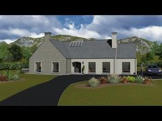 Bedroom With Ensuite, 4 Bedroom House, House Designs Ireland, Dormer Bungalow, Large Open Plan Kitchens, French Doors Patio, Open Fireplace, Built In Wardrobe, Modern House Design