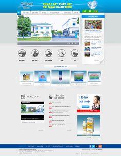 Mẫu web công ty sản xuất thuốc
