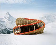 Entrée Alpine Panoramic Structure, Alice Studio/Atelier de la conception de l'espace, Valais, Suisse.