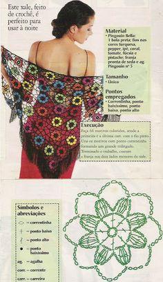 Patterns for several beautiful shawls Gisa Presentes: 13 MODELOS PRA TE DEIXAR EM DÚVIDA DE QUAL FAZER PRIMEIRO