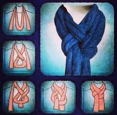 Wearing my scarf (actually my sisters scarf) like this today! Really cute!