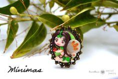Broche Hada Ninfa del Bosque   prendedor. Polymer clay Fairy Brooch