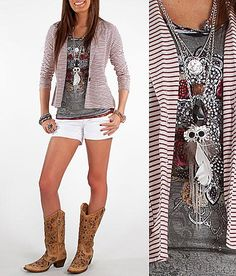 Looking to bust out some cowgirl boots? How about this whole outfit from the Buckle!?