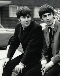 John Lennon and George Harrison.