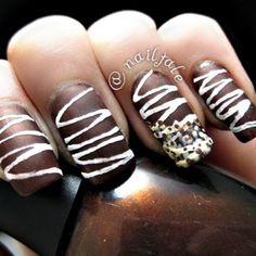yummy chocolate nails!!