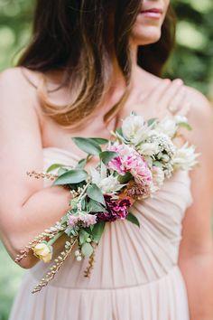 Alysia & Jayson Photography On Gabby Bittrick: Monique Lhuillier Style Alternative Bouquet, Alternative Wedding, Bridesmaid Bouquet, Wedding Bouquets, Wrist Corsage Wedding, Baltimore Wedding, Prom Flowers, White Bridal, Floral Wedding