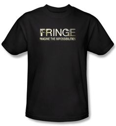 Fringe T-shirt TV Show Logo Adult Black Tee Shirt Fringe T-Shirts This Fringe American science fiction television series t-shirt features the show