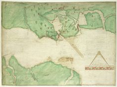 A coloured chart of Portsmouth Harbour, Spithead, and part of the Isle of Wight, on a scale of one mile to an inch