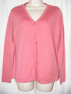 Luciano Dante Pink 100% Cashmere Cardigan Tank Top Twinset Sweater M #LucianoDante #Twinset