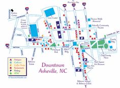 Use this downtown Asheville map to help you get around and see things to do. Asheville North Carolina, Downtown Asheville Nc, Western North Carolina, North Carolina Mountains, Ashville Nc, Photography North Carolina, East Tennessee, Nashville Tennessee, Mini Vacation