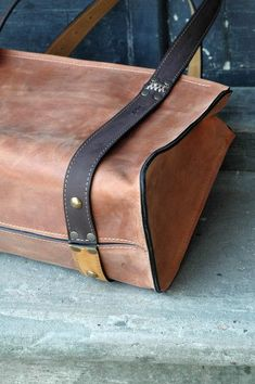 Big brown leather bag - love the warmth of the leather's colour