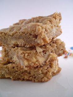 Amazing Blondies with Macadamian Nuts, White Chocolate and Sea Salt!  I'm sure they are Low Fat - ha ha ha