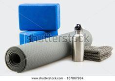 Yoga set - stock photo