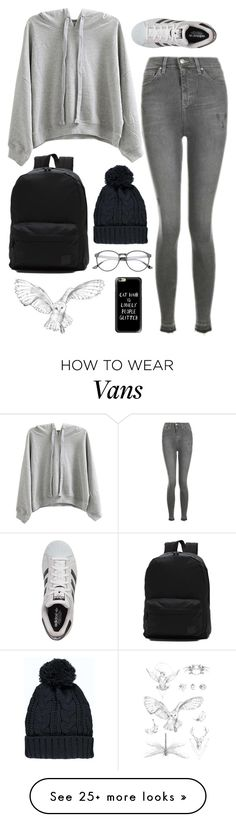 """""""Untitled #1128"""" by samantha-hannum on Polyvore featuring WithChic, Topshop, adidas, Vans, Boohoo, In Your Dreams and Casetify"""