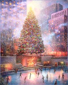 Diamond Painting - Christmas Skating - Floating Styles - Diamond Embroidery - Paint With Diamond - free worldwide shipping. We also offer tools like lighting pad, diamond painting kits including quick painting pens. Create Your Own Paint With Diamonds no Christmas Scenes, Noel Christmas, Vintage Christmas Cards, Christmas Images, Christmas Greetings, Winter Christmas, Christmas Lights, Animated Christmas Pictures, Animated Christmas Tree