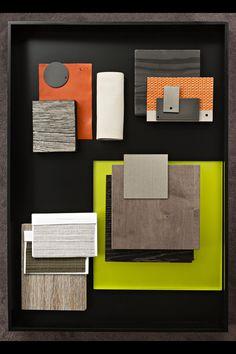 Material by Hélène et Olivier Lempereur. Colour Pallete, Colour Schemes, Color Patterns, Interior Design Presentation, Presentation Styles, Material Board, Mood And Tone, Mood Images, Concept Board