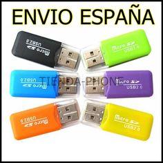 LECTOR DE TARJETAS MEMORIA MICRO SD DE 2 4 8 16 32 GB 4GB 8GB 16GB USB PENDRIVE