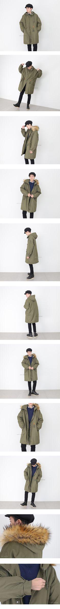 禦寒專用 長版毛帽軍風外套 (毛可拆):UNIVERSE嚴選男裝-服飾穿搭購物網
