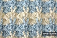 MyPicot 1042  Shell stitch with knitting loops