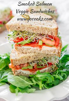Smoked Salmon and Veggie Sandwiches | Jo Cooks