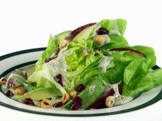 Get Butter Lettuce Salad with Gorgonzola and Pear Dressing Recipe from Food Network