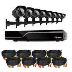 Defender Sentinel 8CH H.265 500GB Smart Security DVR with 8 x 600TVL 100ft IR Cut Filter Night Vision Indoor/Outdoor Cameras (21031) - Bonus 8 Camera Extension Cables Included by Defender. $804.99. Extremely Easy to Set Up and Use This Defender system functions just like a computer, with a mouse for pointing and clicking and an intuitive icon-based menu that provides prompts and coaching to assist you in navigating the system. It's even so simple to use it will begin r...