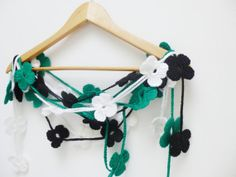 St Patrick DayCrochet Scarf Accessories Floral by PIPPADUSHES, $29.00