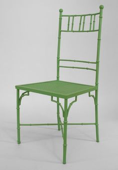 Bamboo faux bamboo seating chair/set painted