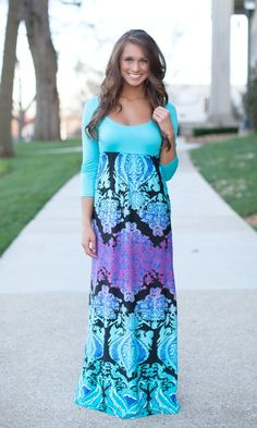 The Pink Lily Boutique - Star Daze Maxi, $42.00 (http://thepinklilyboutique.com/star-daze-maxi/)