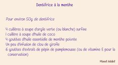 Dentifrice Beauty Routines, Homemade, Diy Beauté, Dyi, Slow, Creations, Cosmetics, Essential Oils, Gardens
