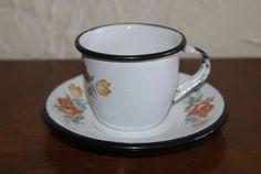 Vintage Enamelware Childs Or Demitasse Cup And by WisdomLane