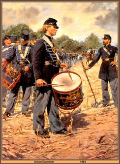 Union Drummer, 1863 by artist Don Troiani