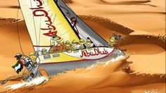 Kiwi artist Mark O'Brien has been drawing cartoons inspired by sailing ever since the Whitbread Round the World Race back in 1990...