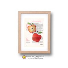 Kitchen Wall Art apple fruit printLimited edition by naturapicta, $12.99 © NATURA PICTA All Rights Reserved.