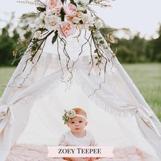 Beautiful Lace Boho Teepee Tent for Girls or Woodland Nursery Baby Teepee, Girls Teepee, Teepee Kids, Teepees, Diy Teepee Tent, Teepee Party, 1st Birthday Photoshoot, 1st Birthday Party For Girls, Baby Birthday