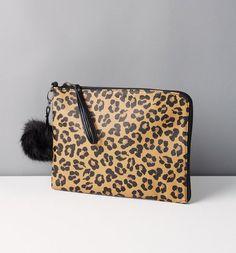 Promod reversible clutch bag 16.95 € 2015 #animalprint #bag #howtowear